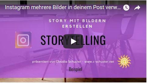 video instagram mit bildern eine geschichte erzählen
