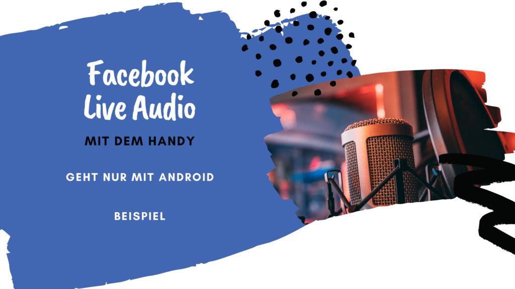 facebook audio-live erstellen auf deiner facebookseite
