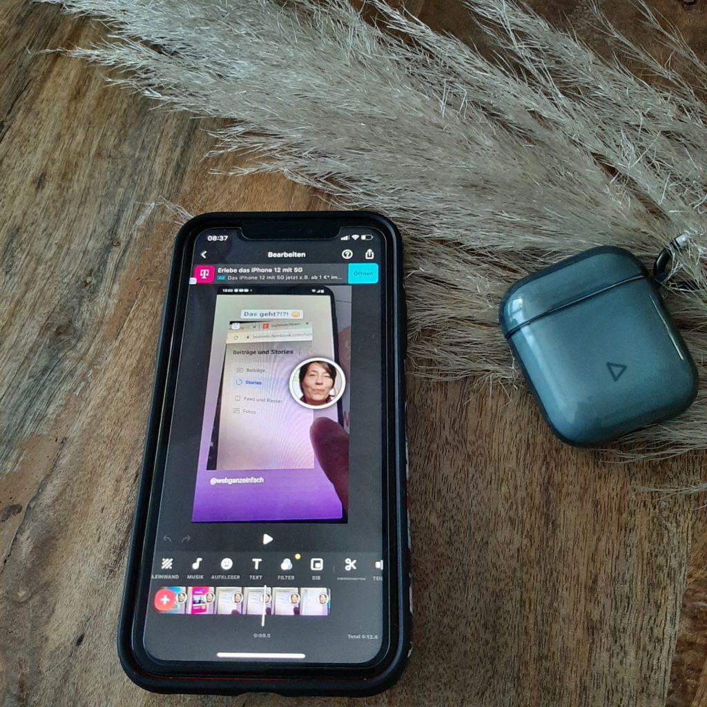 iphoneXR - video drehen - appInshot
